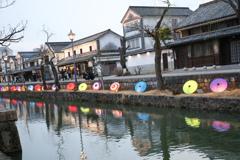 倉敷で和傘