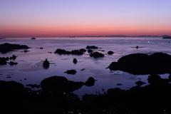 九十九島の夕日