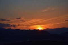 夕焼けの光景