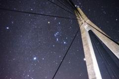 長崎県 鷹島肥前大橋とオリオン座