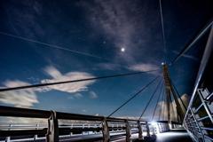 長崎県 鷹島肥前大橋と星空