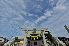 蜃気楼が見える神社