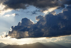 梅雨明け翌日の夕暮れ時の空*2