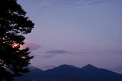 八ヶ岳の夕暮れ*1
