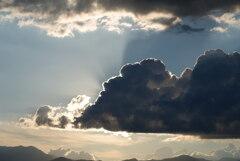 梅雨明け翌日の夕暮れ時の空 *1