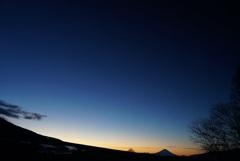 追想:厳冬の朝の富士山
