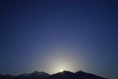 八ヶ岳の「月の出」