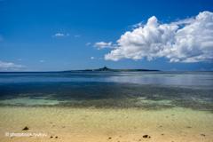 伊江島を望む