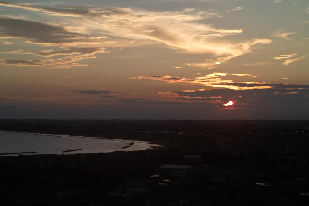 sunset at fishing port