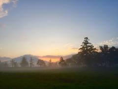 尾瀬の早朝