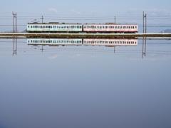 近江鉄道 水鏡