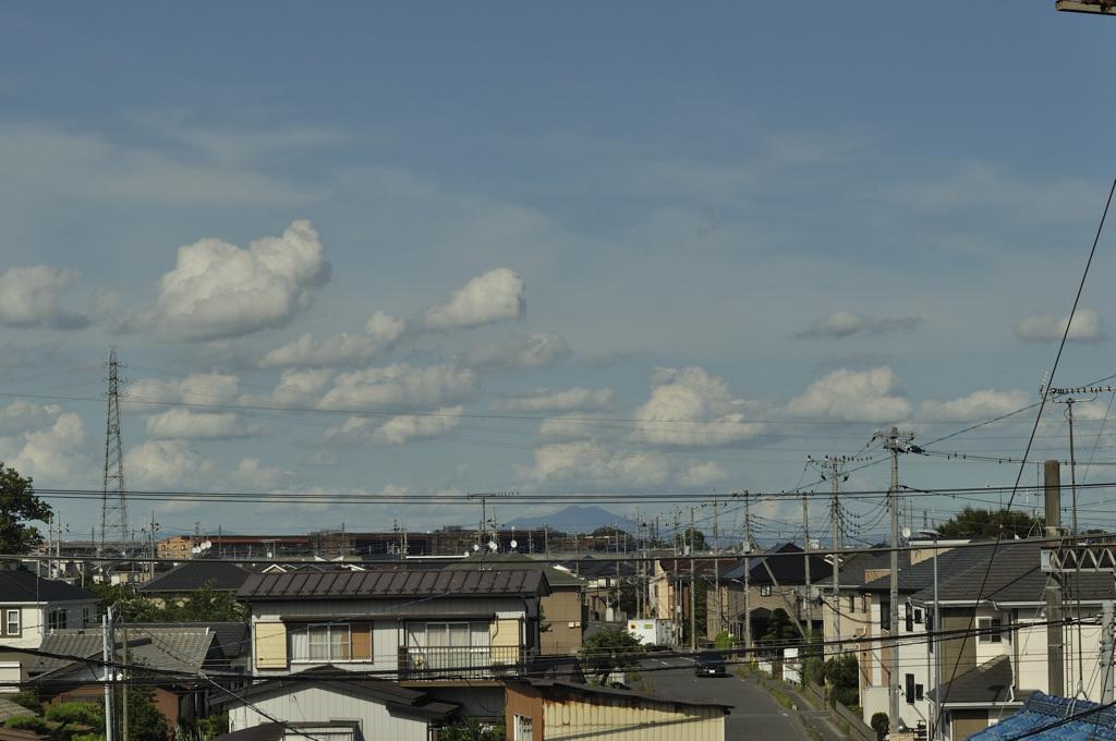 梅雨明け 筑波山遠景