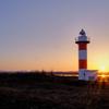 石狩灯台と日の出