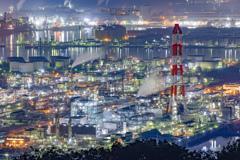 水島展望台からの工場夜景