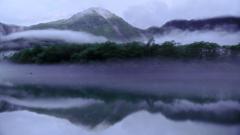 焼岳の夜明け
