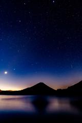 冬の夜 精進湖