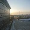 初冬の吉林空港の朝