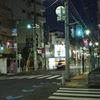 夜散歩 無人商店街