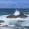 台風9号が通過しても凄い波