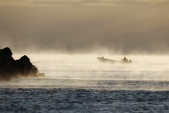 靄の中を駆ける