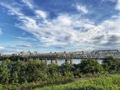 鉄橋の有る風景