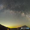 富士に架かる天の川