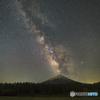 富士に天の川昇る-2