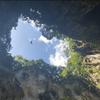 洞窟のお寺から開けた空