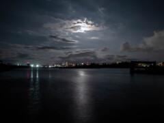 冬のトゥリバーマリーナの夜