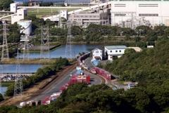 東水島駅に入線する貨物列車②