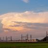雲と電車(1)