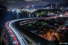Kure city Night-View