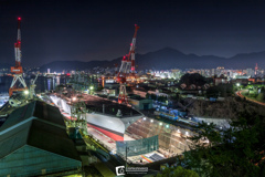造船所のある街-Town with shipyard-
