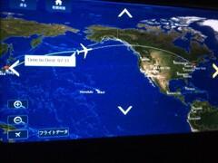 日本からアメリカへの機内ルート