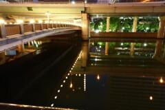 深夜の堂島川