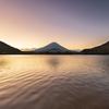 精進湖の朝焼け その1