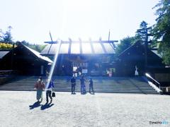 北海道神宮、妻の病気快気のお礼参り