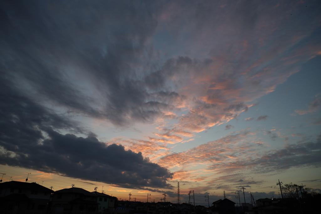 夕方 西の空