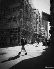 香港のモノクロ写真