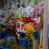 花屋の店先の