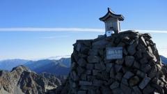 奥穂高岳山頂。