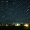 赤城山と星