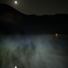 赤城山 大沼と月