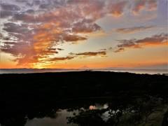夕陽・変化する雲
