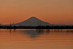 一月の富士