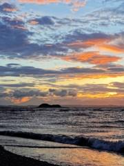彩色夕景…富津岬にて
