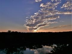 秋の夕陽に