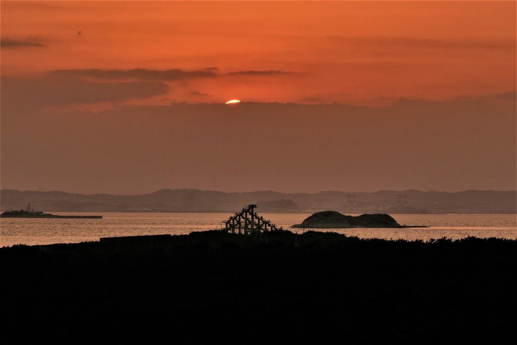 海堡・岬・夕陽