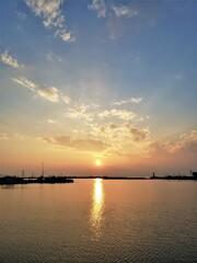 盛夏の夕陽