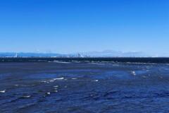 台風一過の東京湾